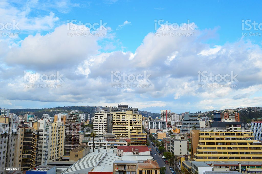 Downtown Viña del Mar royalty-free stock photo
