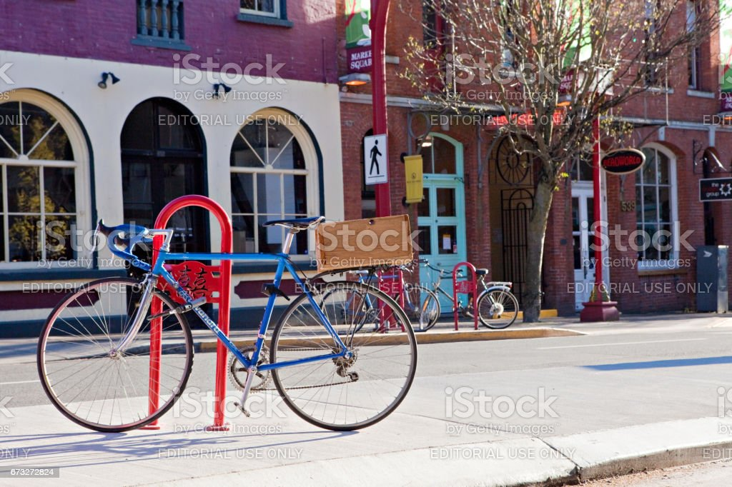 Downtown Victoria Bicycle stock photo