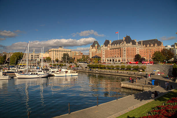 Downtown Victoria stock photo
