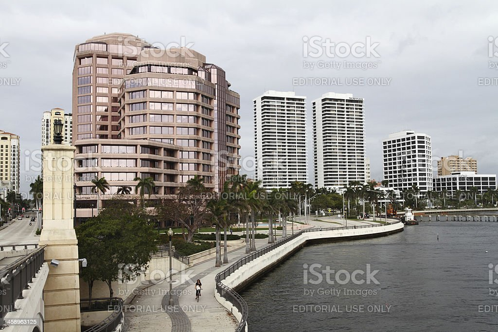 Downtown West Palm Beach along Intracoastal waterfront royalty-free stock photo