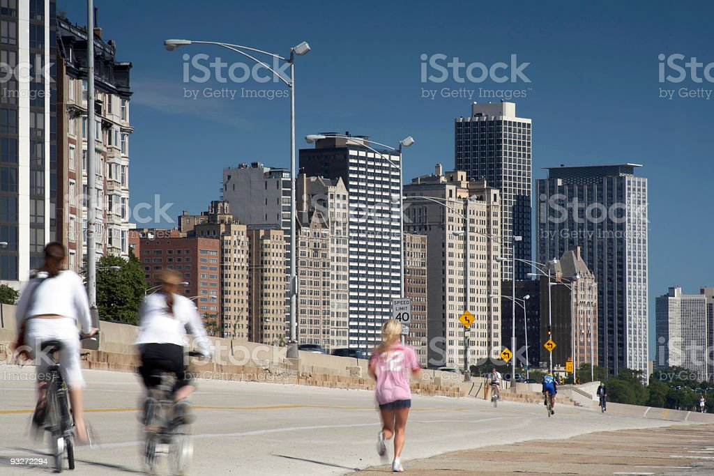 Downtown Workout stock photo