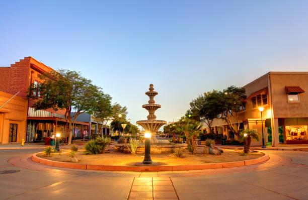 Downtown Yuma, Arizona stock photo