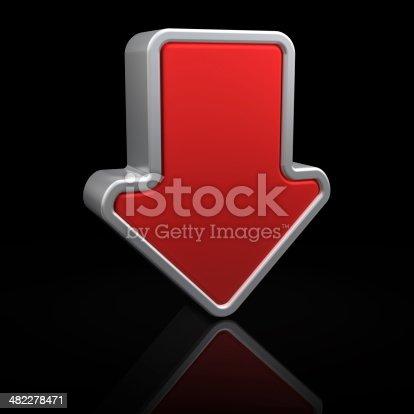 istock Downward arrow 482278471