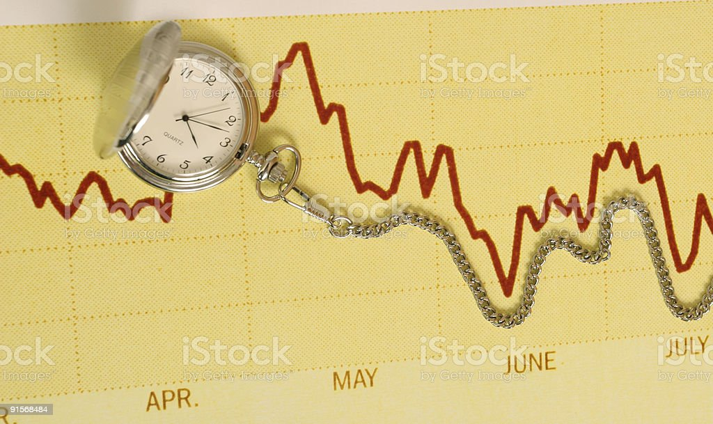 Downward Trend royalty-free stock photo