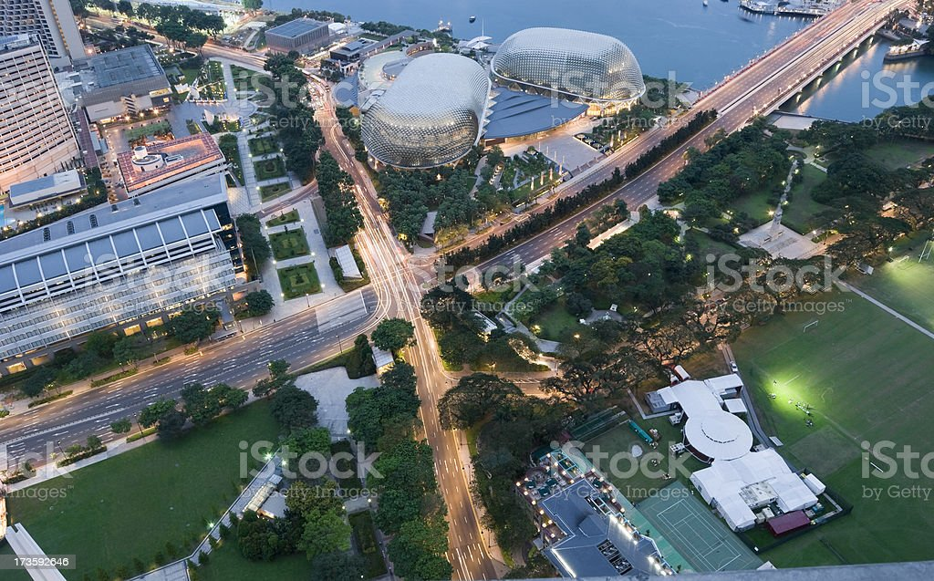 Downward View of Singapore royalty-free stock photo