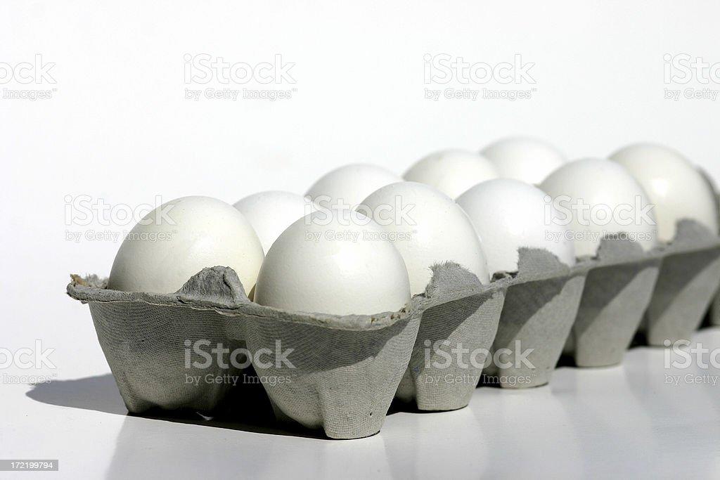 Dozen Carton Eggs royalty-free stock photo