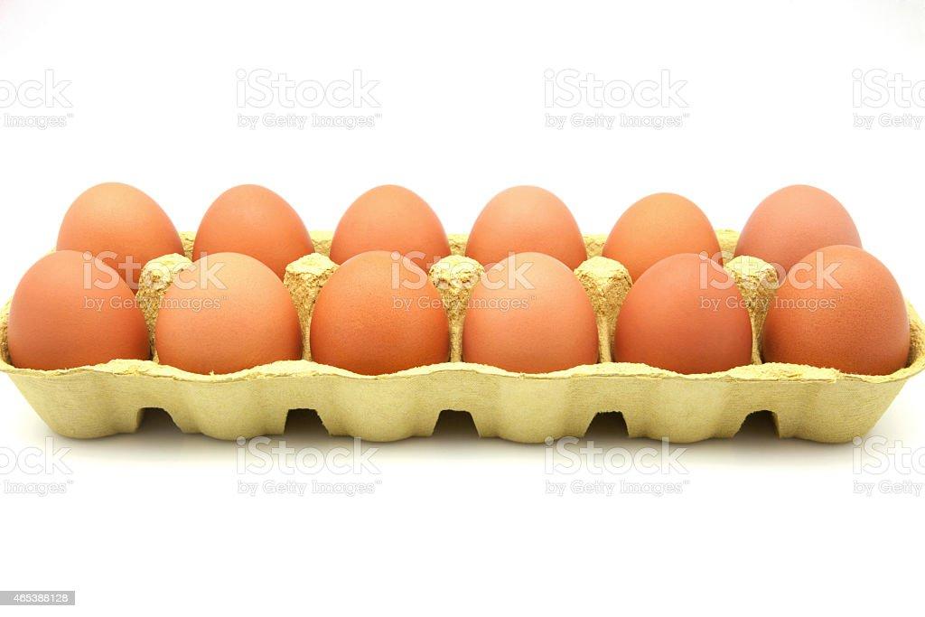 dozen eggs stock photo