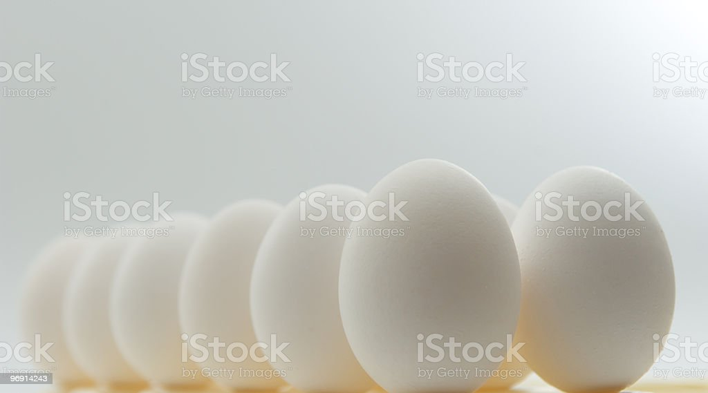 Dozen eggs royalty-free stock photo