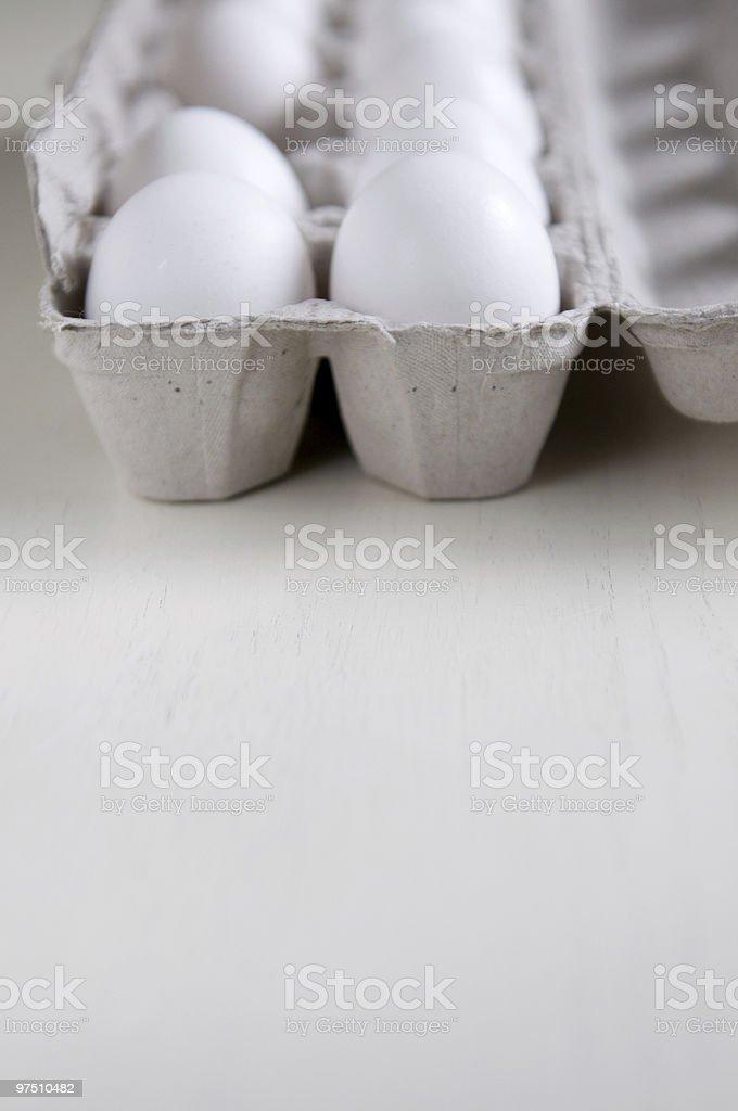 dozen eggs royalty-free stock photo