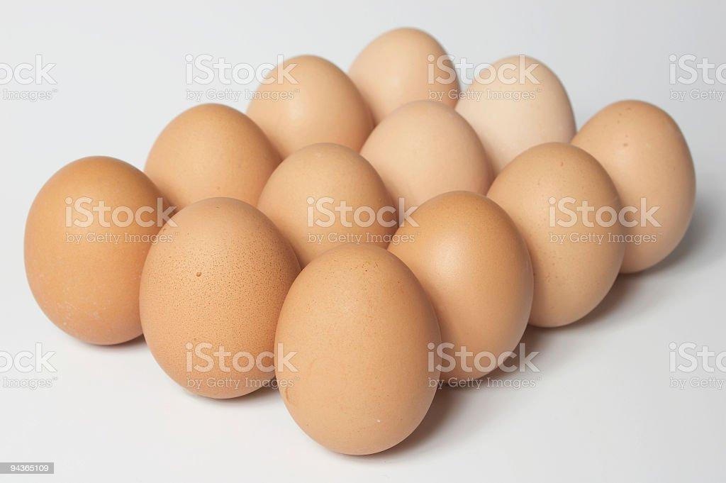 dozen of eggs royalty-free stock photo