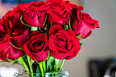 istock Dozen Red Roses on Valentine's Day 1207069482