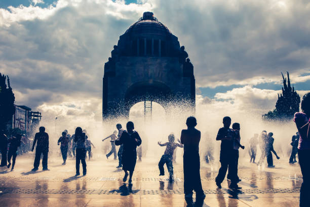Discovery Mexico City - National Monument stock photo