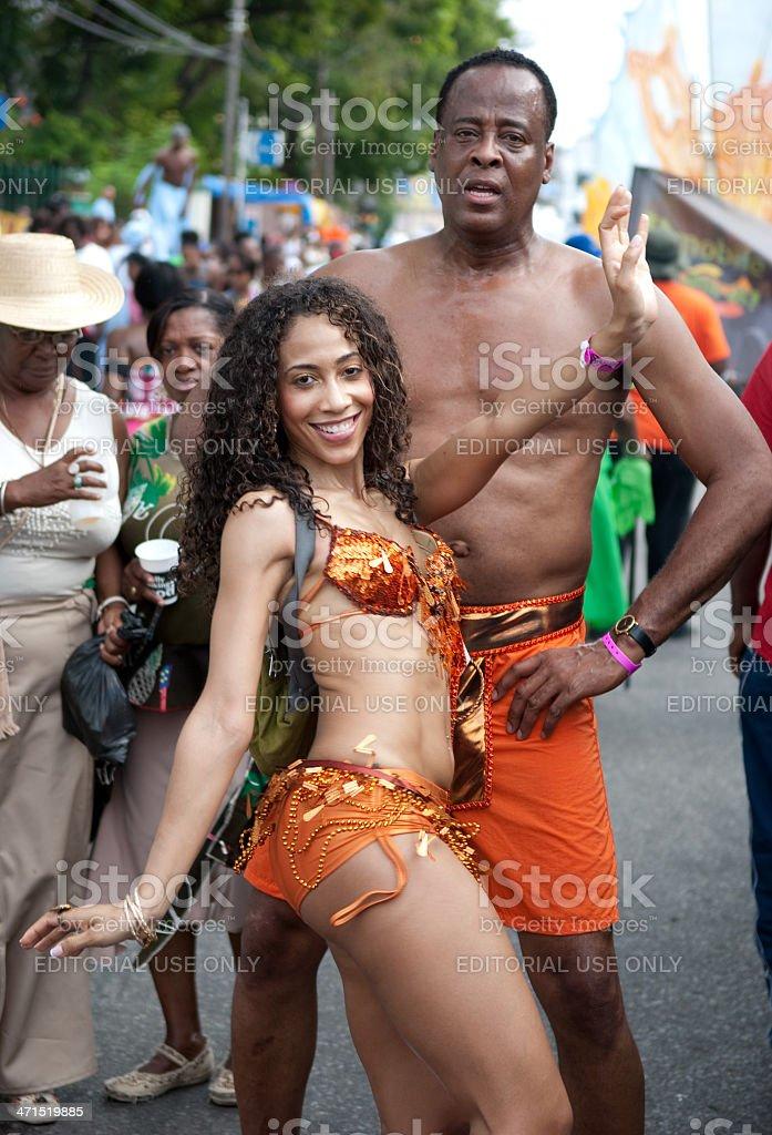 Dr Conrad Murray Enjoying The Carnival In Trinidad Stock Photo