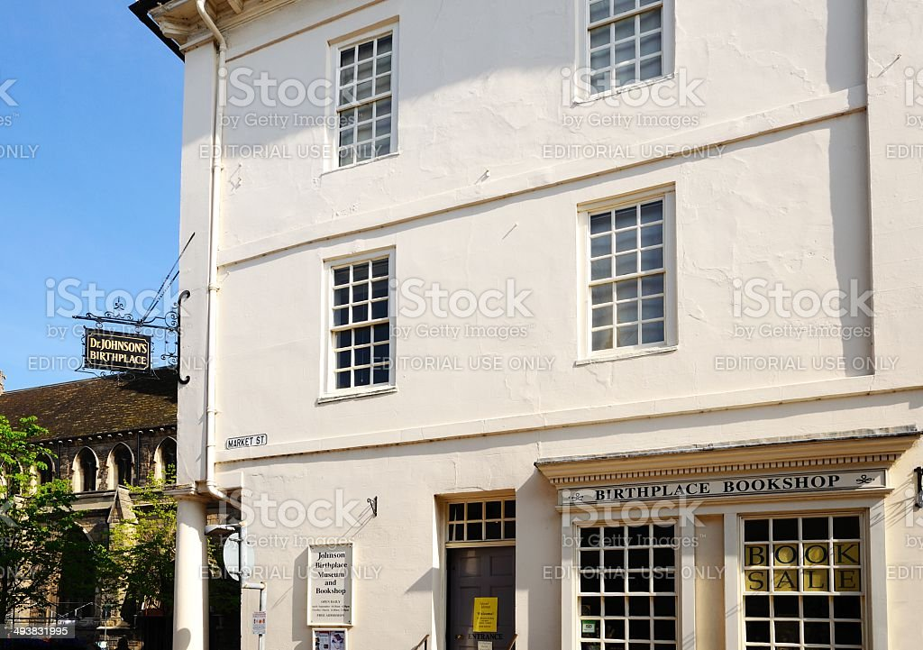 Dr Johnsons Birthplace and Museum, Lichfield, UK. stock photo
