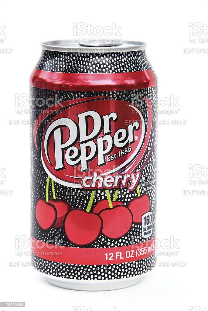 Dr Pepper Cherry soda stock photo