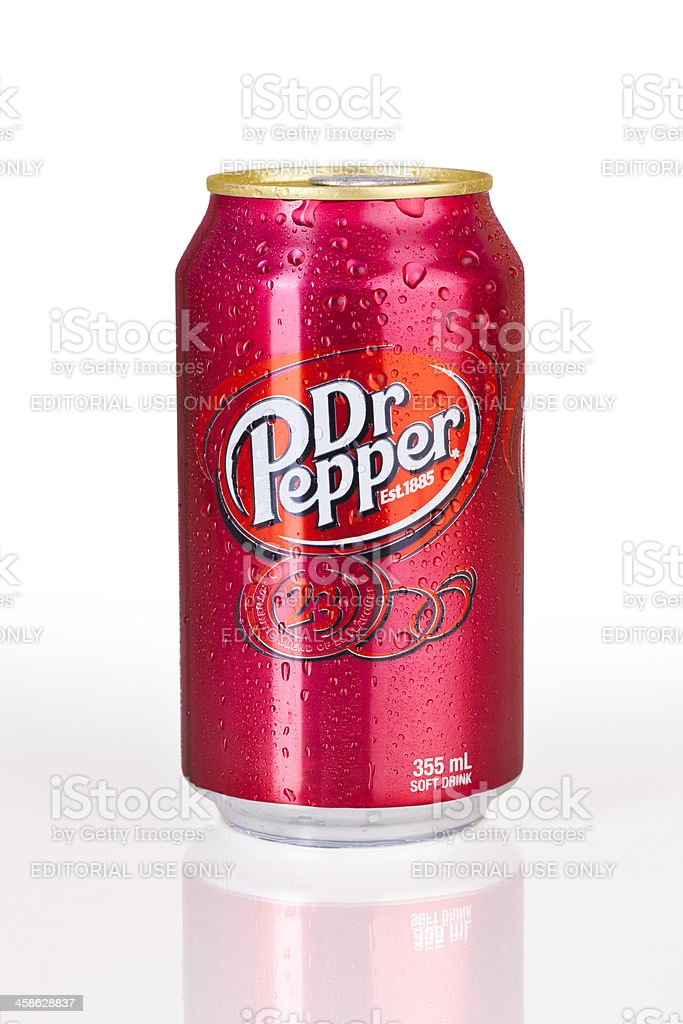 Dr Pepper Pop Can stock photo