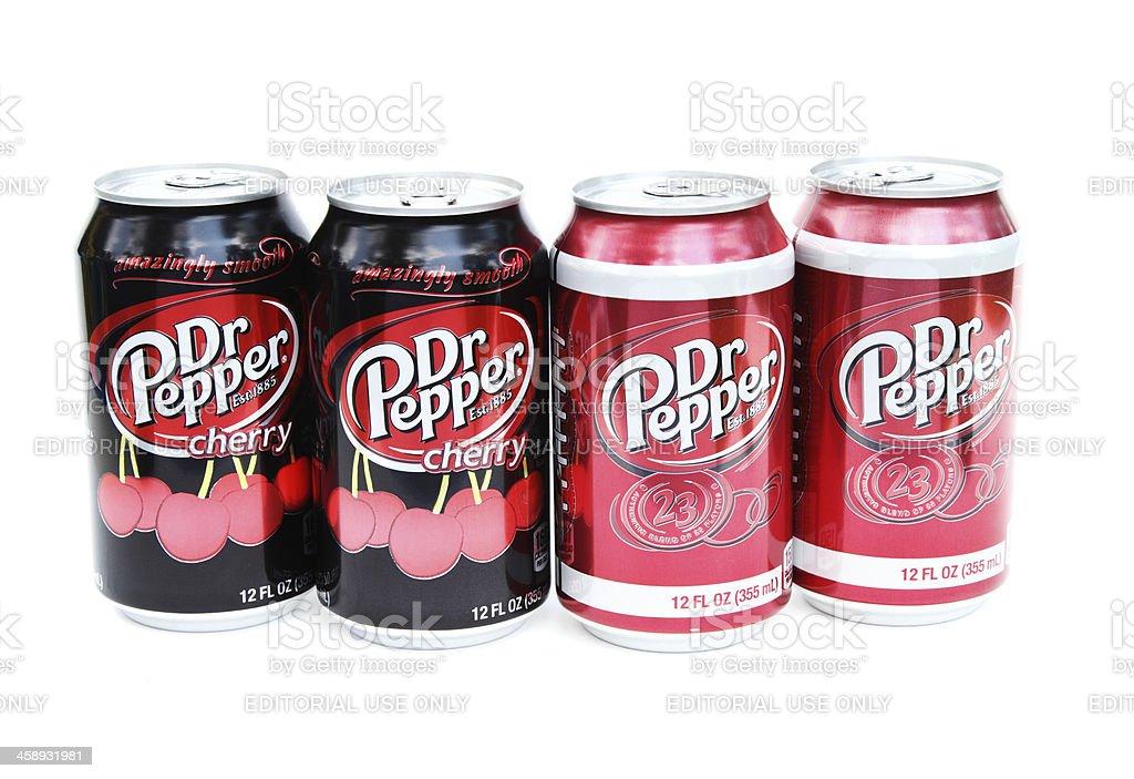 Dr Pepper sodas stock photo