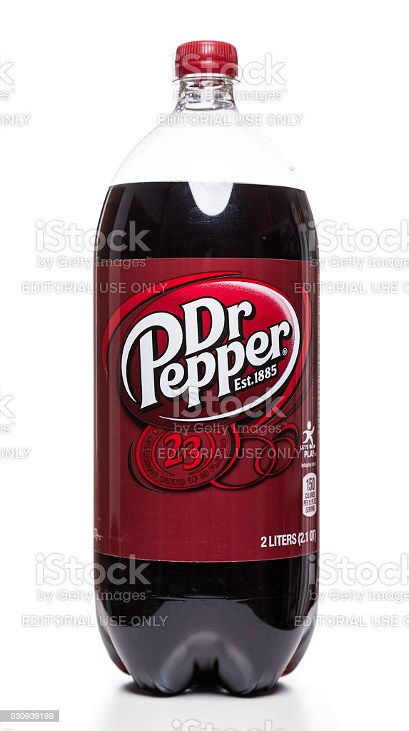 Dr Pepper soft drink bottle stock photo