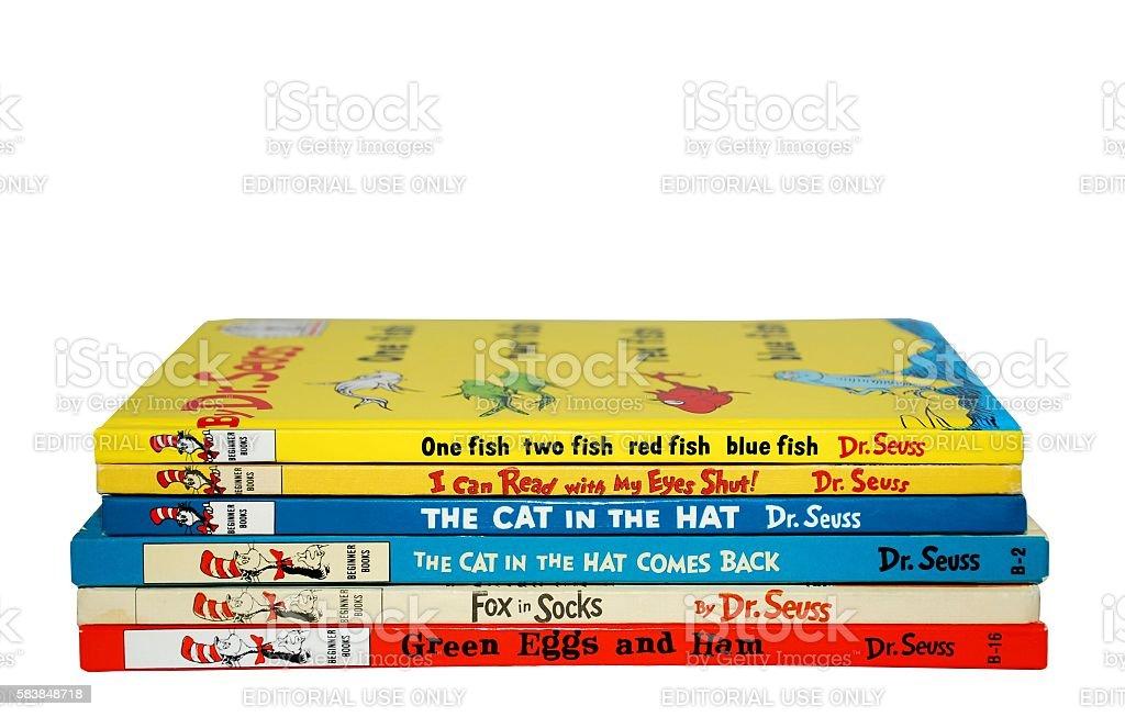 Dr. Seuss Books stock photo