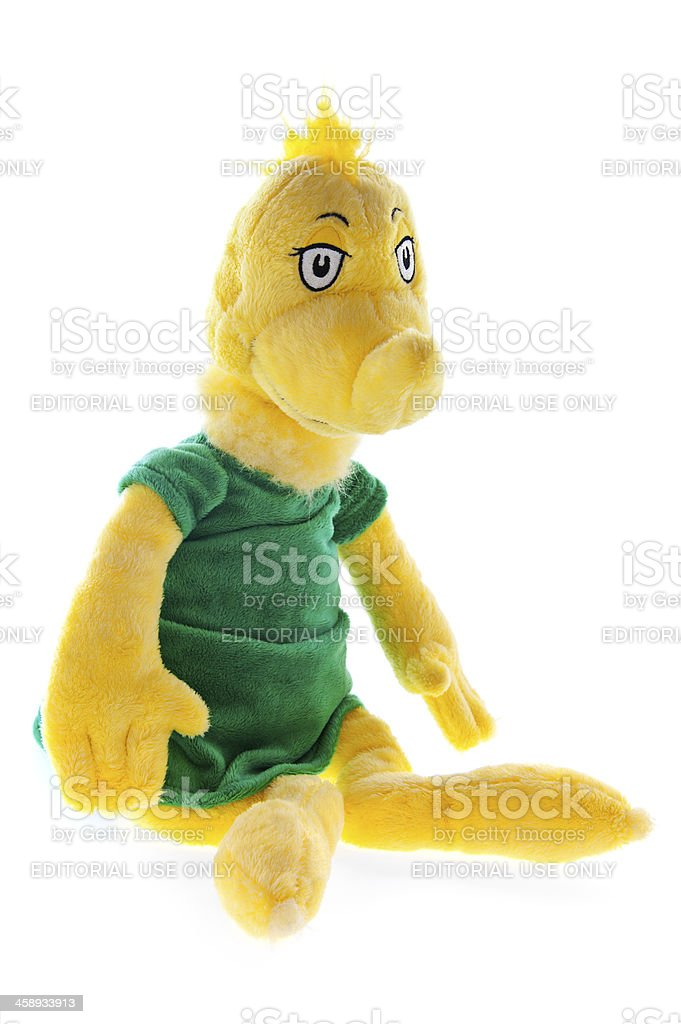 3951110e Dr. Seuss Yellow Sneetch Plush Creatures Stuffed Animal Toy - Stock image .