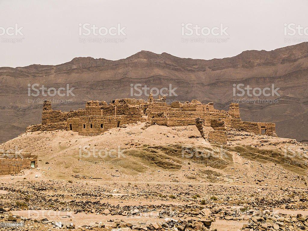 Draa Valley Kasbah royalty-free stock photo