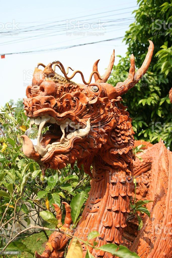 Dragon Boat Terrakotta Lizenzfreies stock-foto