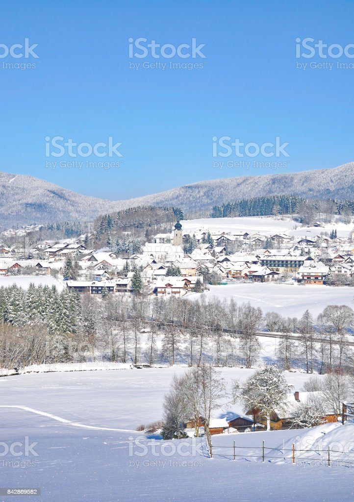 Drachselsried,bavarian Forest,Germany stock photo