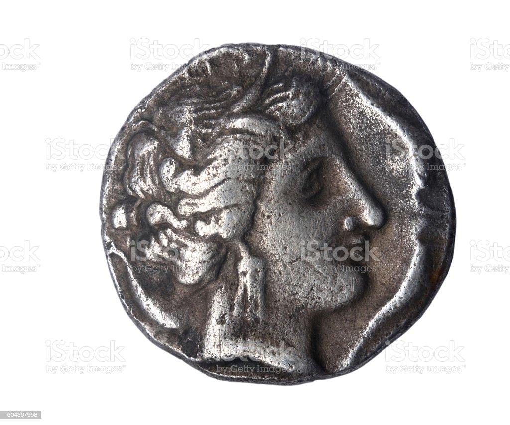 Dracma,  III century B. C. stock photo