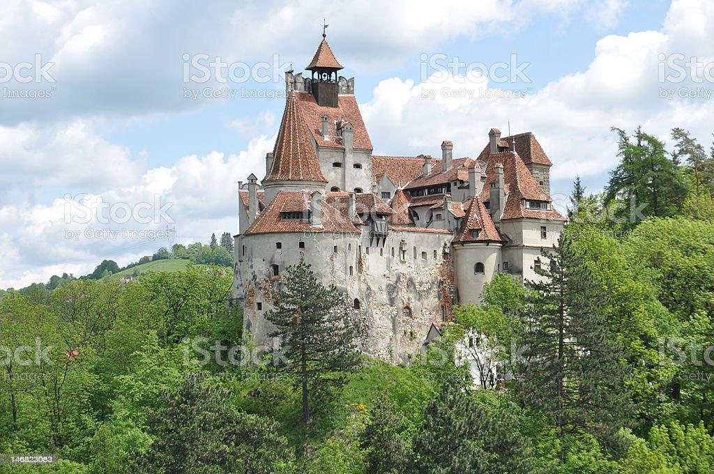 Dracula's Bran Castle in spring season . stock photo