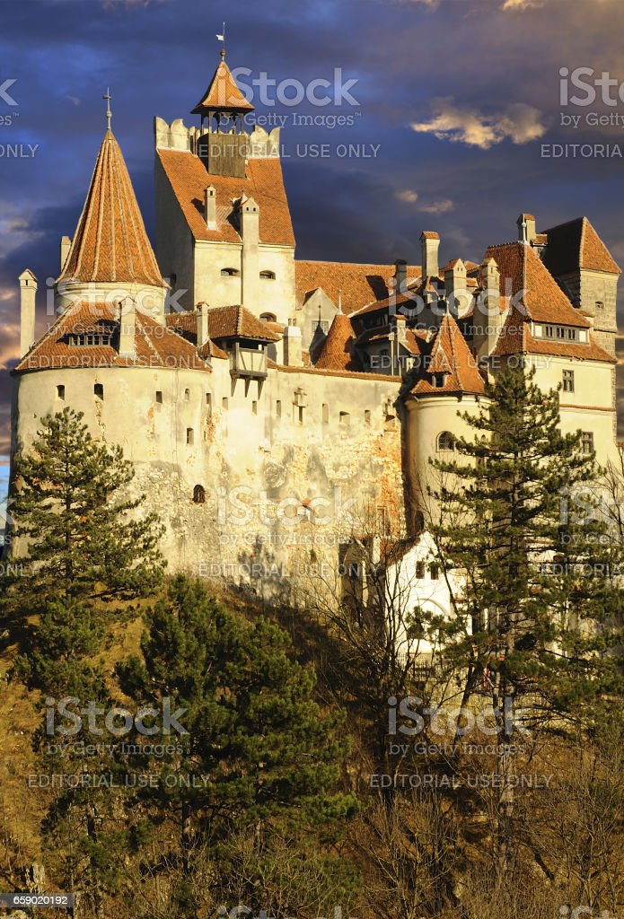 Dracula's Bran Castle royalty-free stock photo