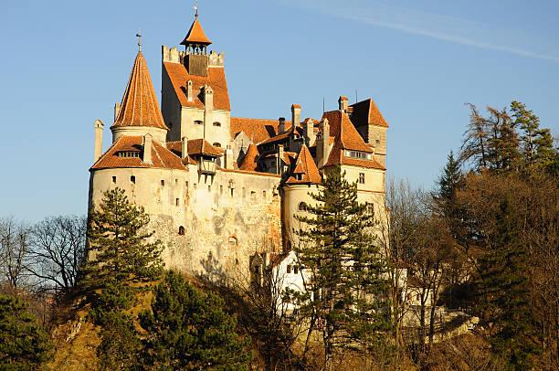dracula's törzburg, siebenbürgen, rumänien, europa - graf dracula stock-fotos und bilder