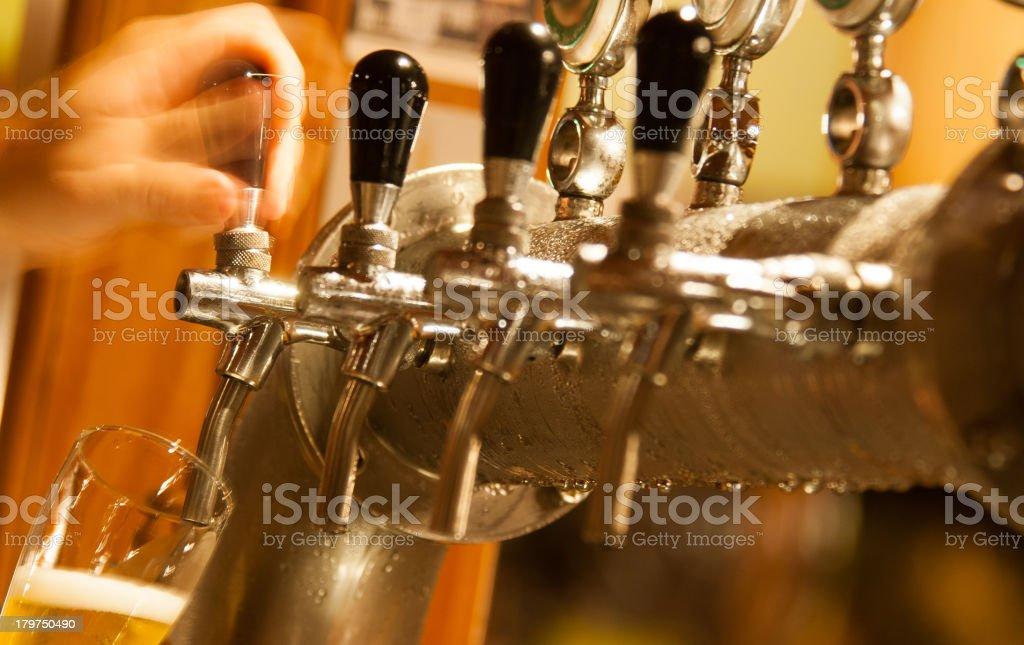 Draft Beer Machine stock photo