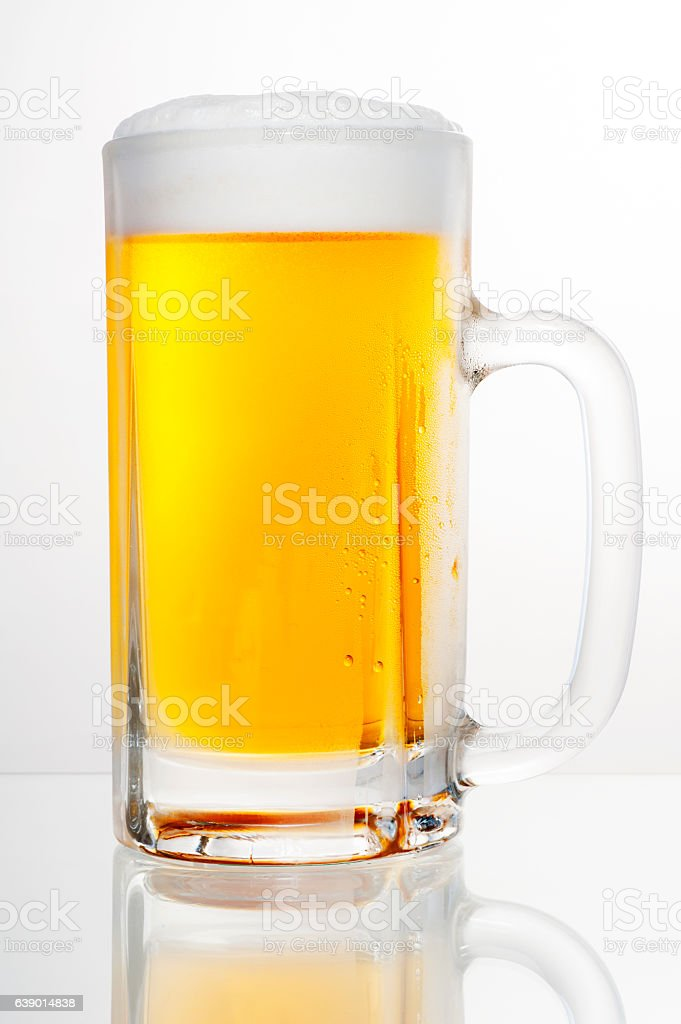 Draft beer on a white background stock photo