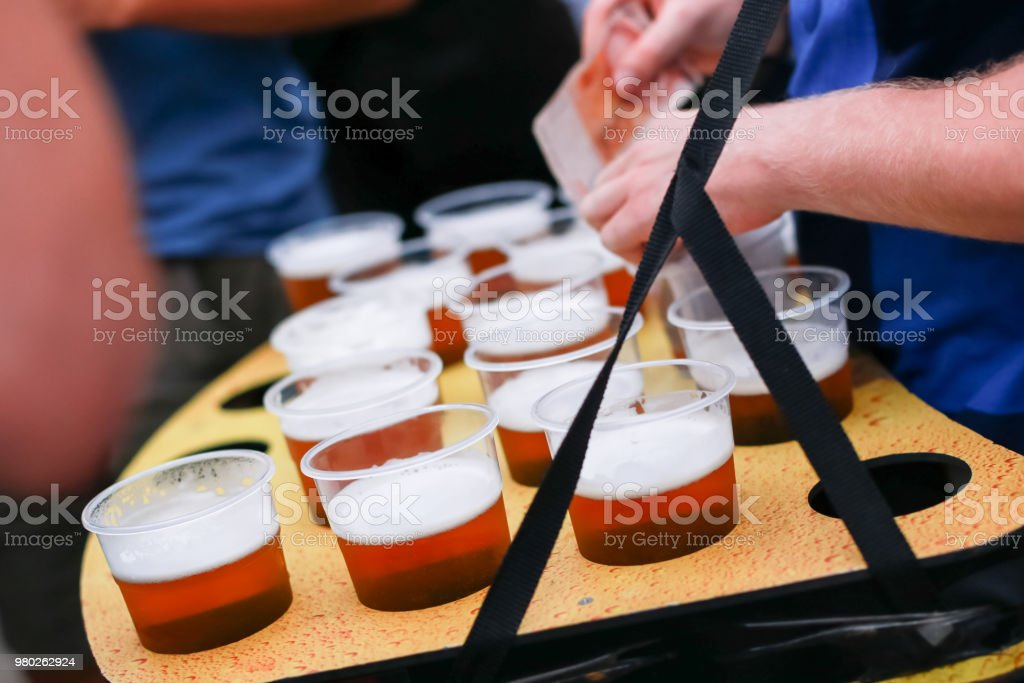 Draft beers stock photo