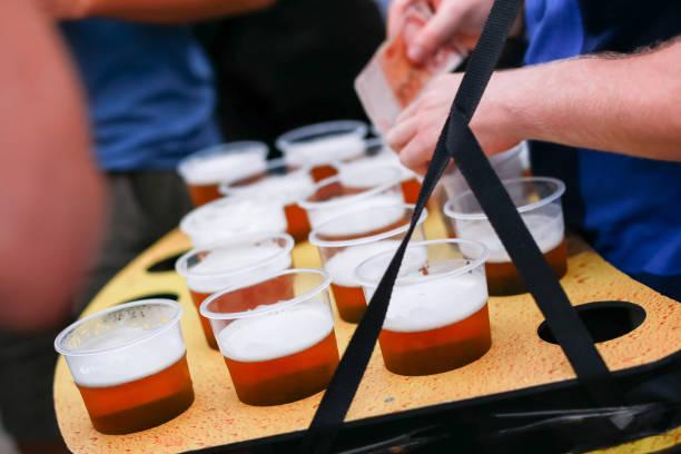 Draft beers stock photo