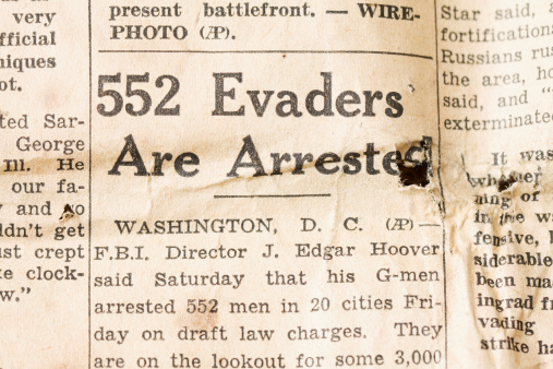 Fosston, USA - June 13, 2011:  An article in the Saturday, May 15, 1943 issue of the Des Moines (Iowa) Tribune newpaper titled \