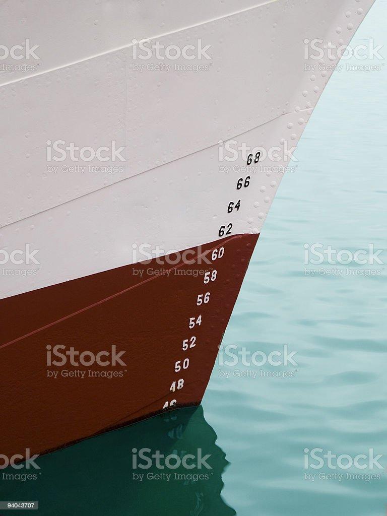 Draft markings stock photo