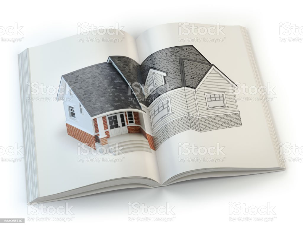 Draft of house concept of construction magazine architecture and concept of construction magazine architecture and design royalty free stock malvernweather Choice Image