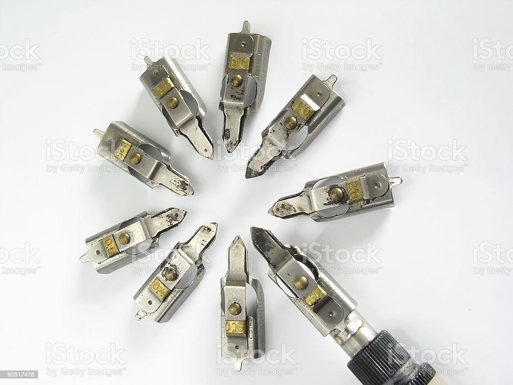Drafting Instruments stock photo