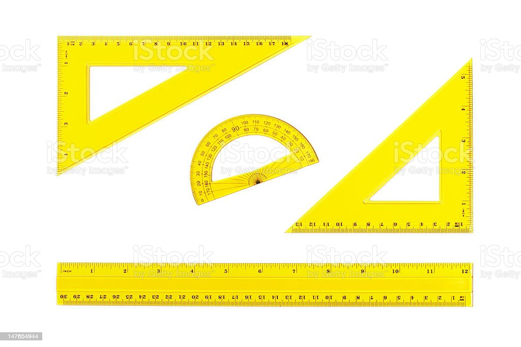 Drafting measurement tools royalty-free stock photo