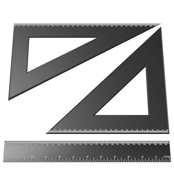 Drafting ruler and squares set - foto stock