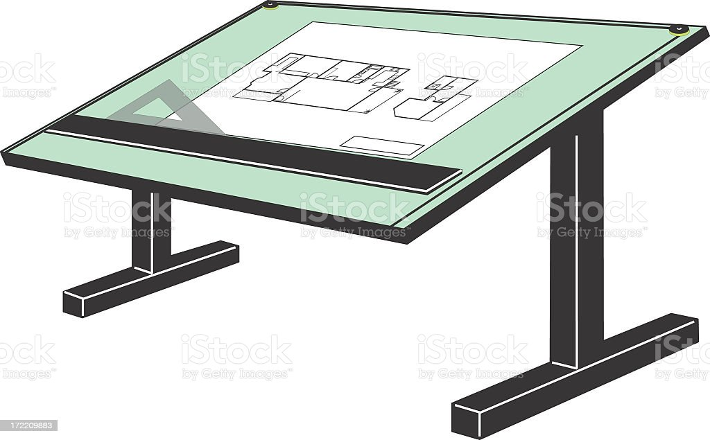 Drafting table royalty-free stock photo
