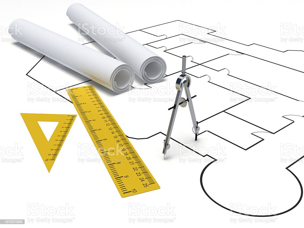 Drafting Tools Stock Photo & More Pictures of Architecture | iStock
