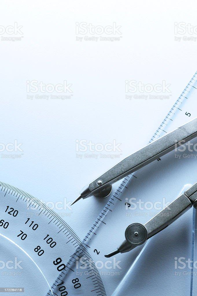 Drafting Tools royalty-free stock photo