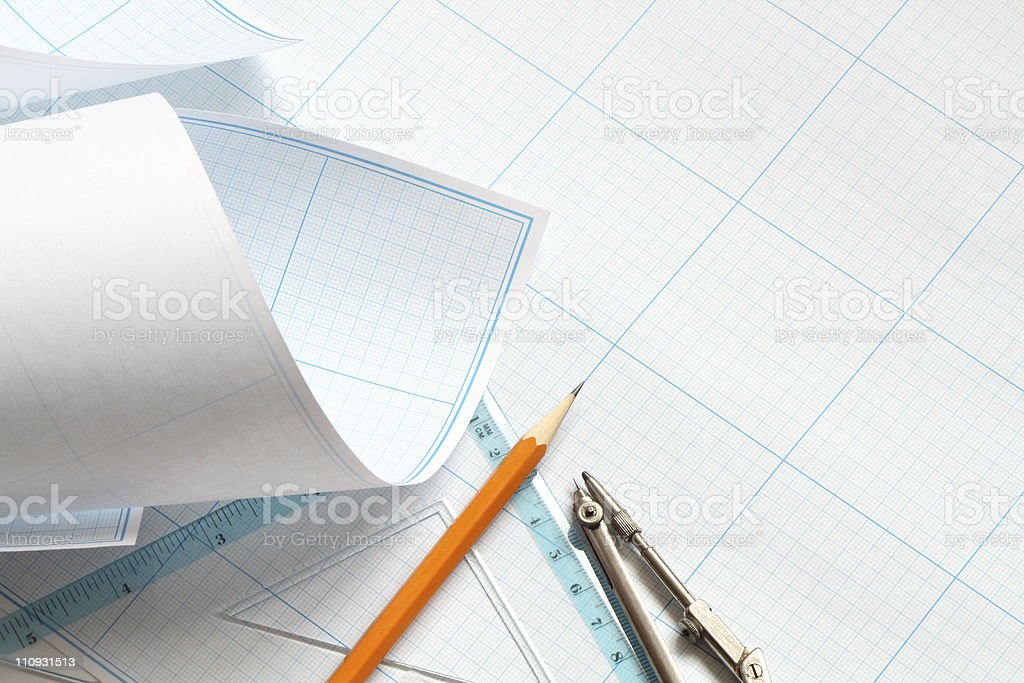 Draftsmanship royalty-free stock photo