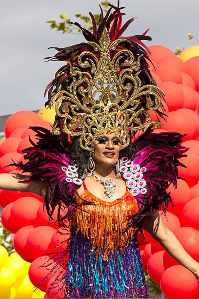 Drag Queen Gay Pride Festival Auckland stock photo