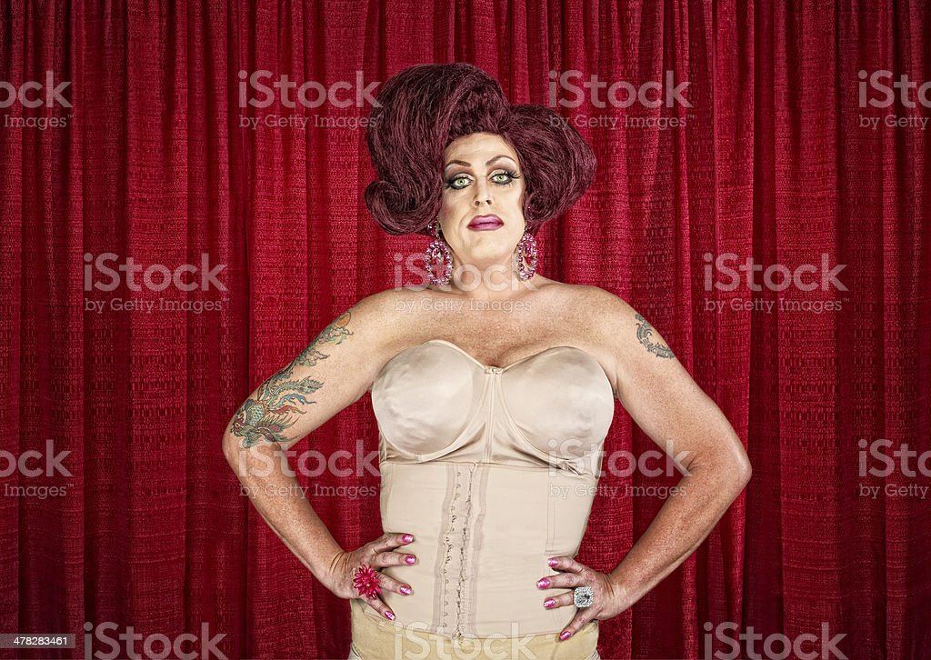 Drag Queen in Corset stock photo