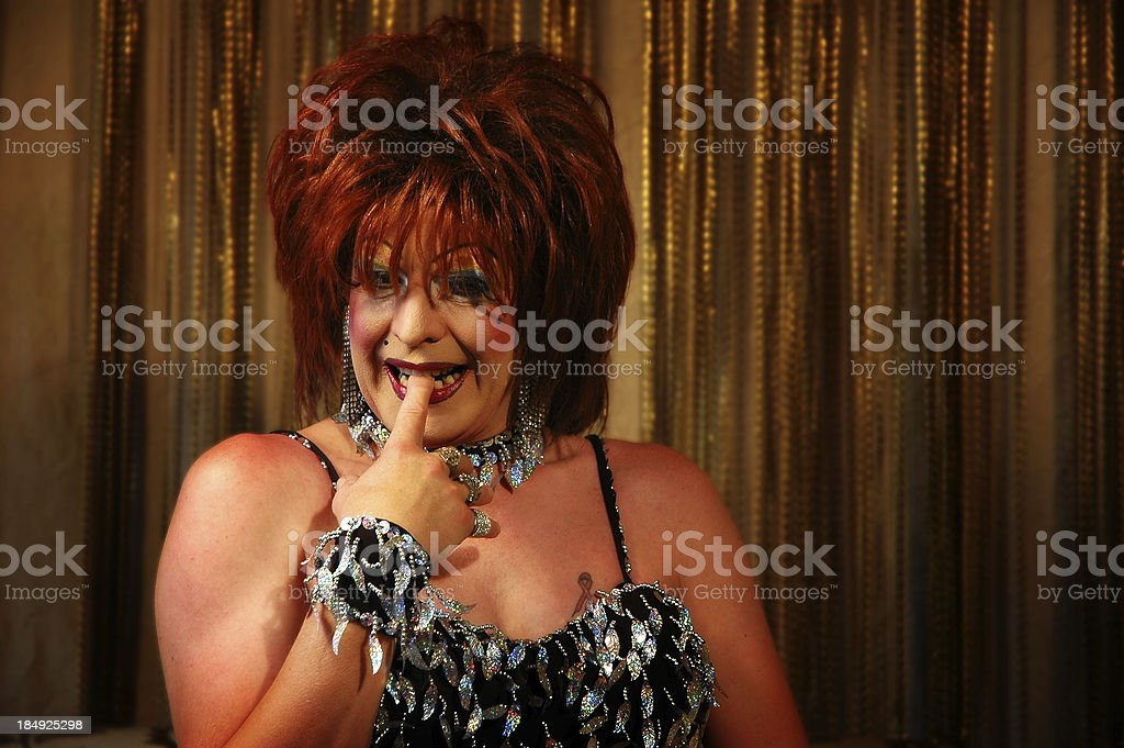 Drag Queen on stage royalty-free stock photo