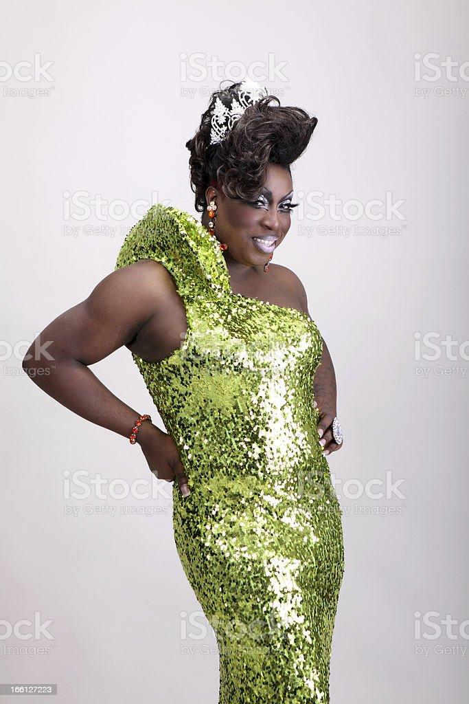 Drag queen - Royalty-free Afrikaanse etniciteit Stockfoto