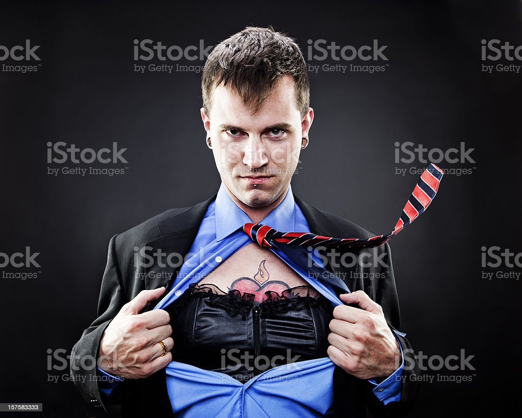 Drag Queen Superhero stock photo